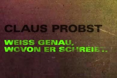 """Claus Probst, """"Nummer Zwei"""", Buchtrailer"""